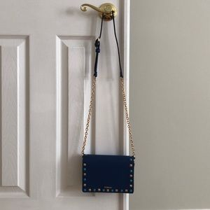 Bebe cobalt blue crossbody with jewel accents